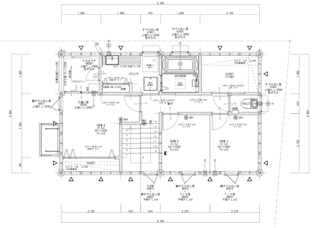安城モデルハウス 2階平面図