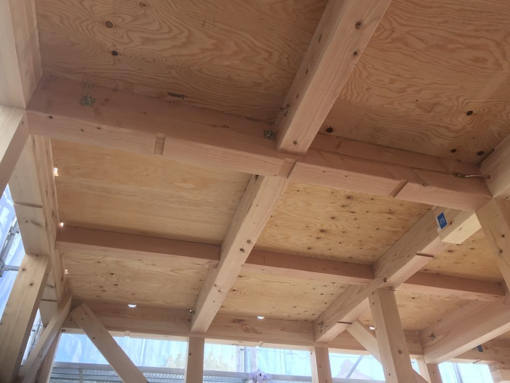 在来木造住宅の上棟